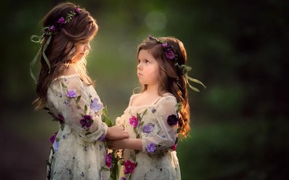 Papéis de Parede Lindas garotas, irmãs