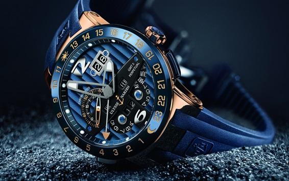 Wallpaper Luxury watch, Ulysse Nardin, arrow, time