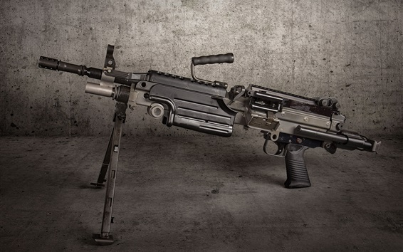 Wallpaper M249 SAW machine gun, weapon