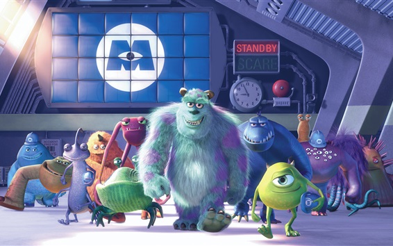Wallpaper Monsters Inc., cartoon movie