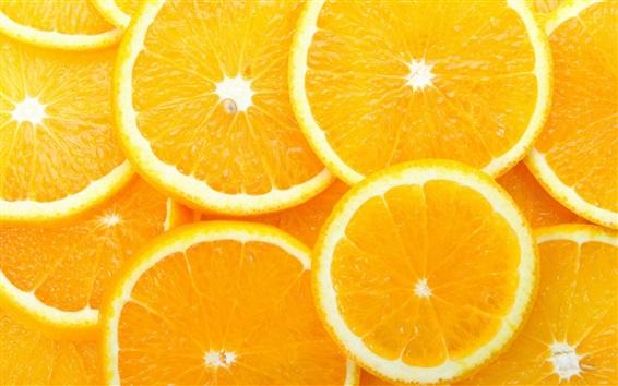 Wallpaper Orange slices, delicious fruit
