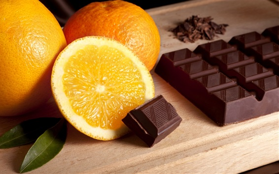 Wallpaper Oranges and chocolate