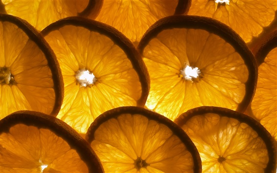 Wallpaper Oranges sliced, backlight