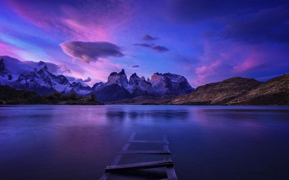 Papéis de Parede Patagônia, lago, montanhas