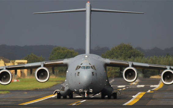 배경 화면 비행기 정면, 비행장