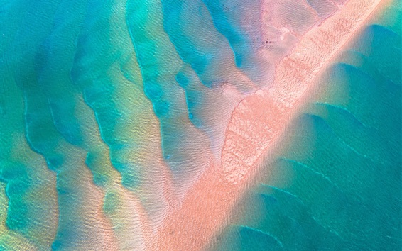 Wallpaper Sea, water, sands, top view