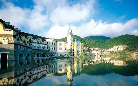 Fondos de pantalla Shenzhen OCT Este, hotel, lago