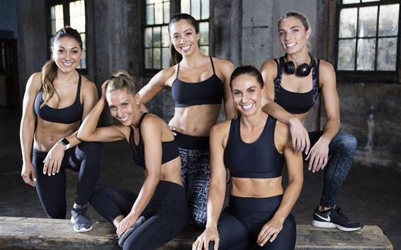 Fond d'écran Smile girls, sportswear, sports