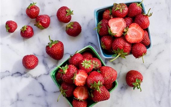 Wallpaper Strawberry, juicy fruit