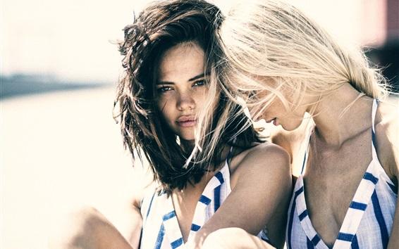 Papéis de Parede Duas meninas, amizade