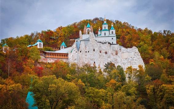 Fond d'écran Ukraine, monastère, église, automne, forêt