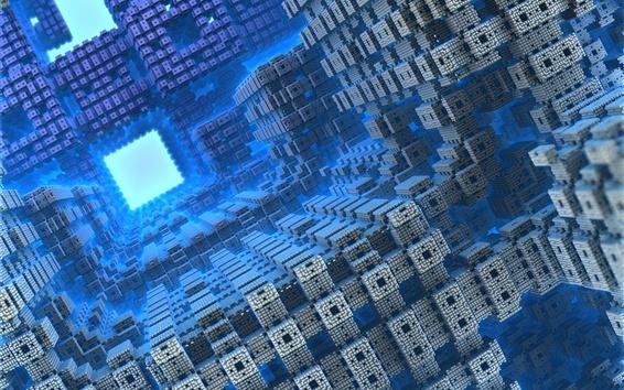 Обои 3D-мир, фрактальные формы рендеринга