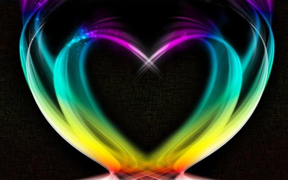 Обои Абстрактное сердце любви, яркий дым, творческий