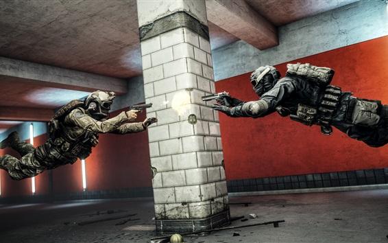 Fondos de pantalla Battlefield 4, duelo de soldados