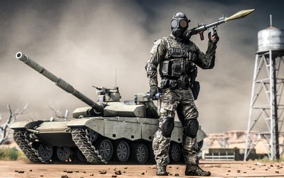 Wallpaper Battlefield 4, soldiers, grenade launcher