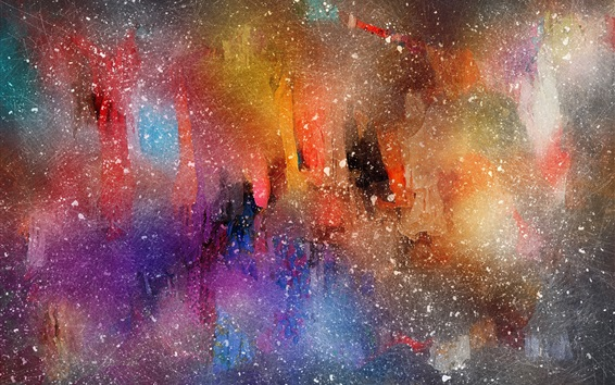 Fond d'écran Belle peinture aquarelle, style abstrait, taches