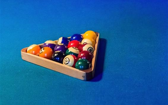 Wallpaper Billiards, colorful balls, triangle