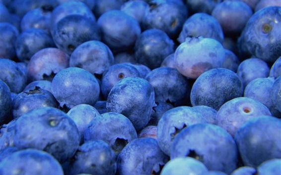 Fondos de pantalla Arándanos macro, fotografía de frutas