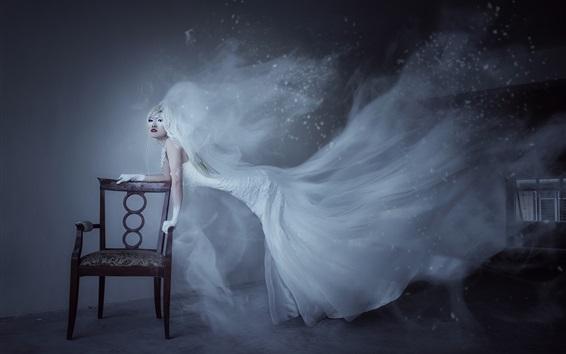 Wallpaper Bride, ghost, skirt flying
