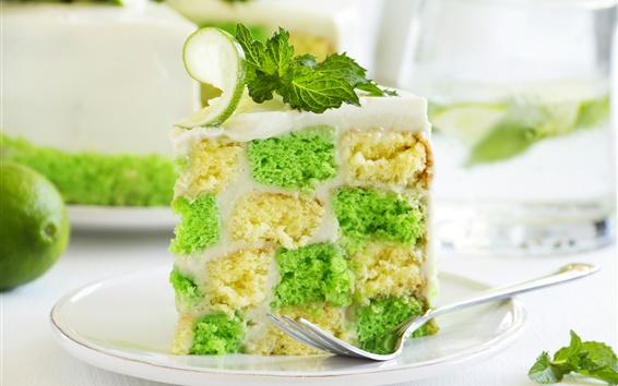 Wallpaper Cake, mint, lime, dessert