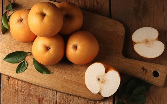 Обои Китайская груша, плод крупный план