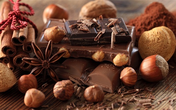 Wallpaper Chocolate candy and nuts