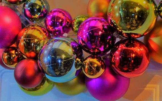 Wallpaper Christmas balls, decoration