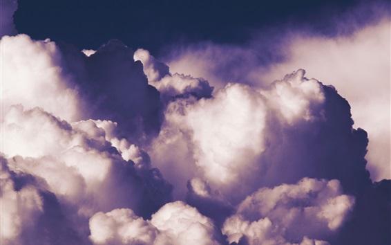 Wallpaper Clouds, sky, dusk