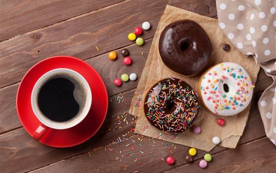 Fond d'écran Café, beignets, dessert