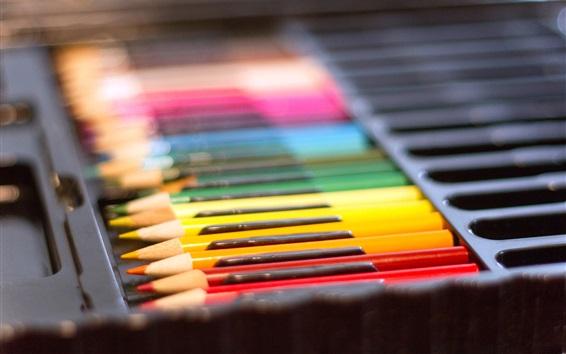 Wallpaper Colored pencils, box