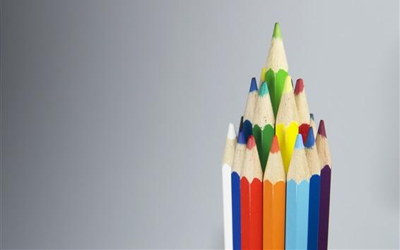 Wallpaper Colored pencils, like a castle