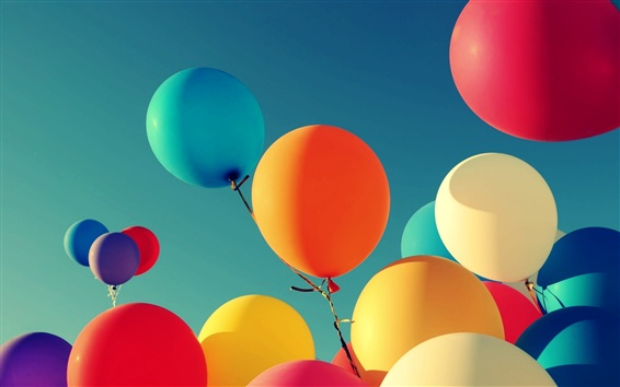 Wallpaper Colorful balloons, free to flying