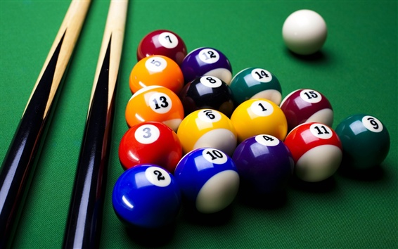 Wallpaper Colorful billiard, balls