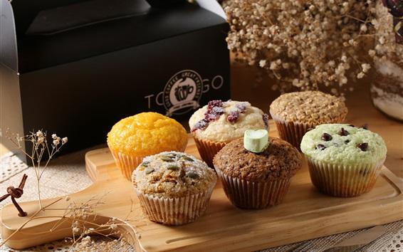 Fondos de pantalla Cupcakes, muffins, comida