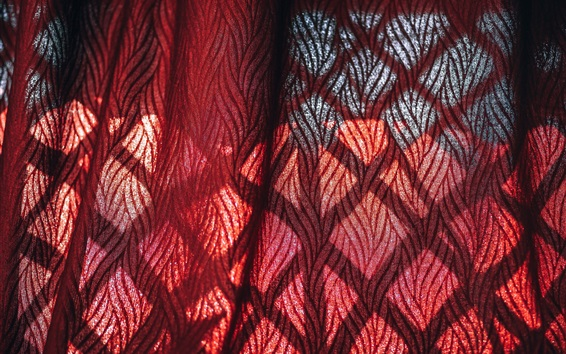 Wallpaper Curtain cloth, red