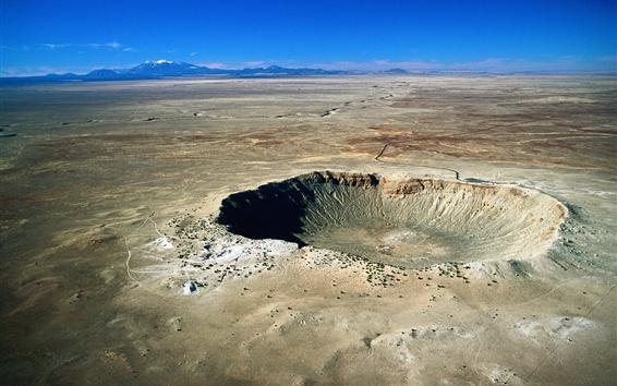 Wallpaper Desert, drought sand, crater