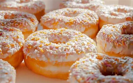 Wallpaper Donuts, delicious food