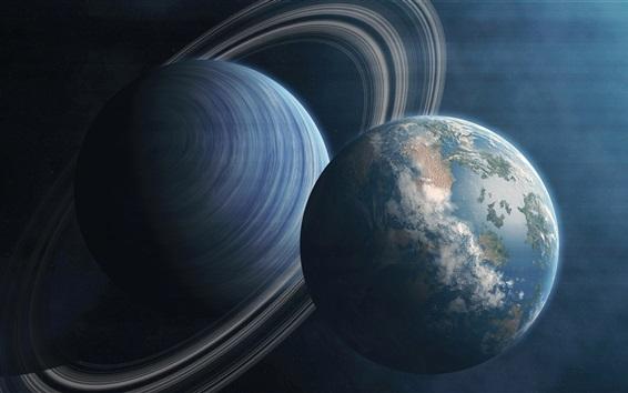 Обои Земля и Юпитер