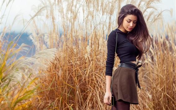 Hintergrundbilder Mode Mädchen, Schilf