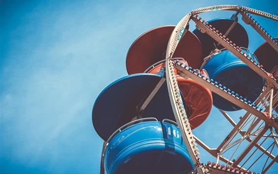 Wallpaper Ferris wheel, cabin, sky