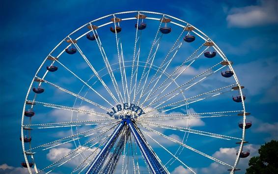 Wallpaper Ferris wheel, entertainment, sky