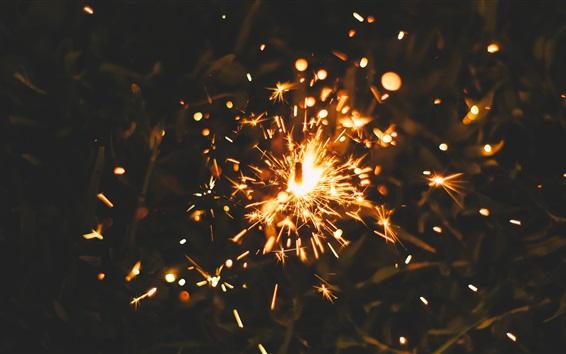 Wallpaper Fireworks, sparks, night