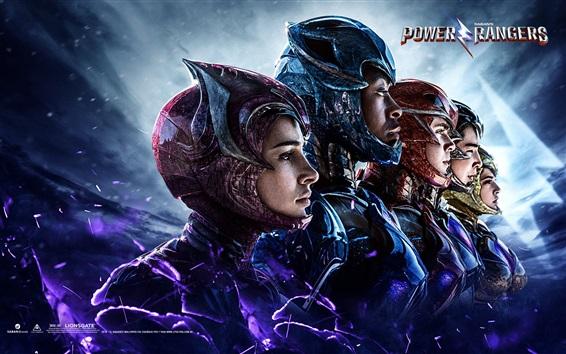 Fondos de pantalla Cinco héroes en Power Rangers