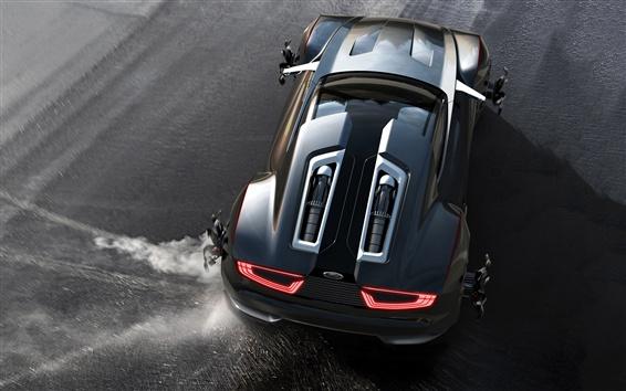 Fondos de pantalla Ford Mad Max concepto coche vista desde arriba