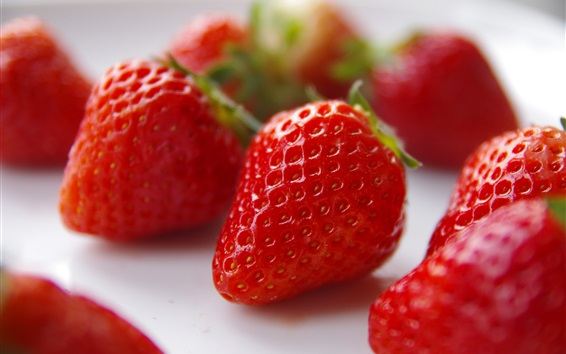 Fond d'écran Fraise fraîche, gros plan de fruit