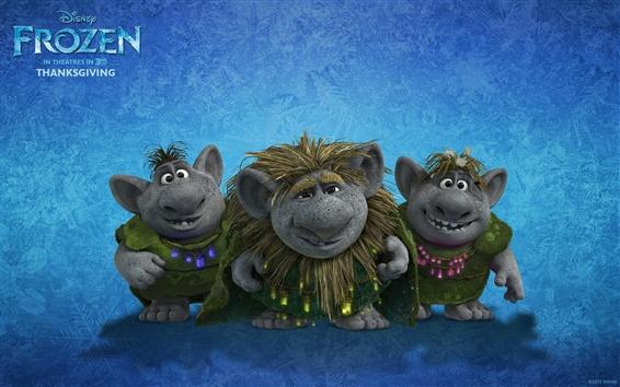 Wallpaper Frozen, trolls, Disney cartoon