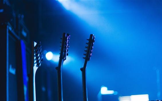 Wallpaper Guitar, music, bokeh