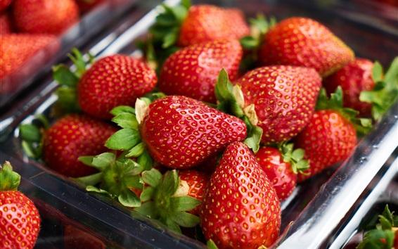 Fondos de pantalla Fresa jugosa, fruta deliciosa