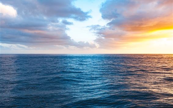 Wallpaper Kauai, USA, sea, sunset