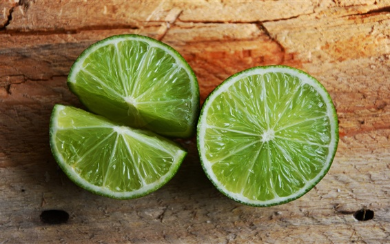Wallpaper Lime, green lemon, fruit close-up